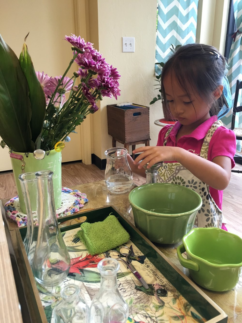 Arranging flowers helps to beautify the environment