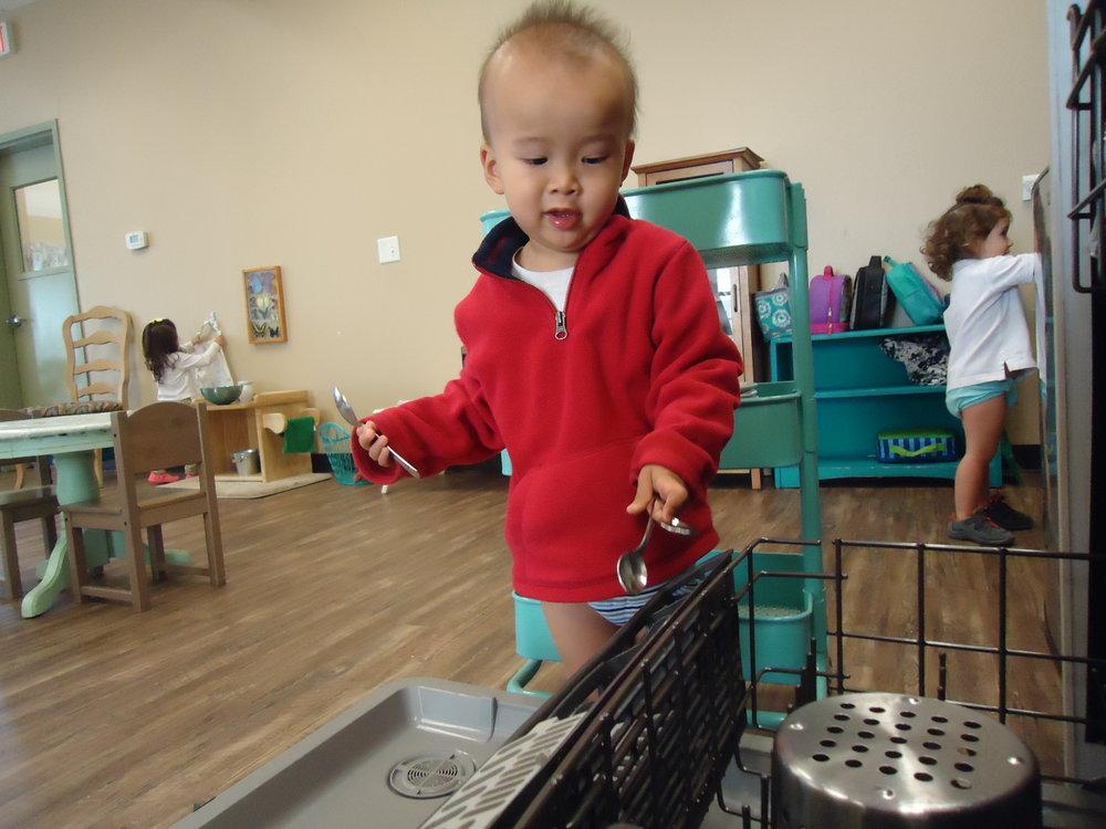 Loading/Unloading Dishwasher