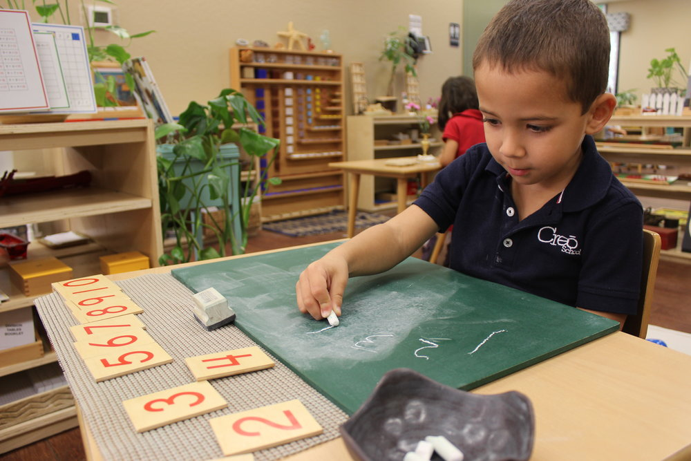 Number Writing with Chalk