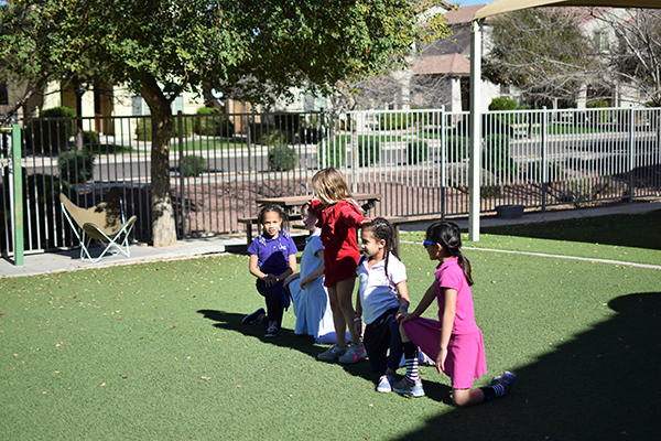 Cheerleading at Recess
