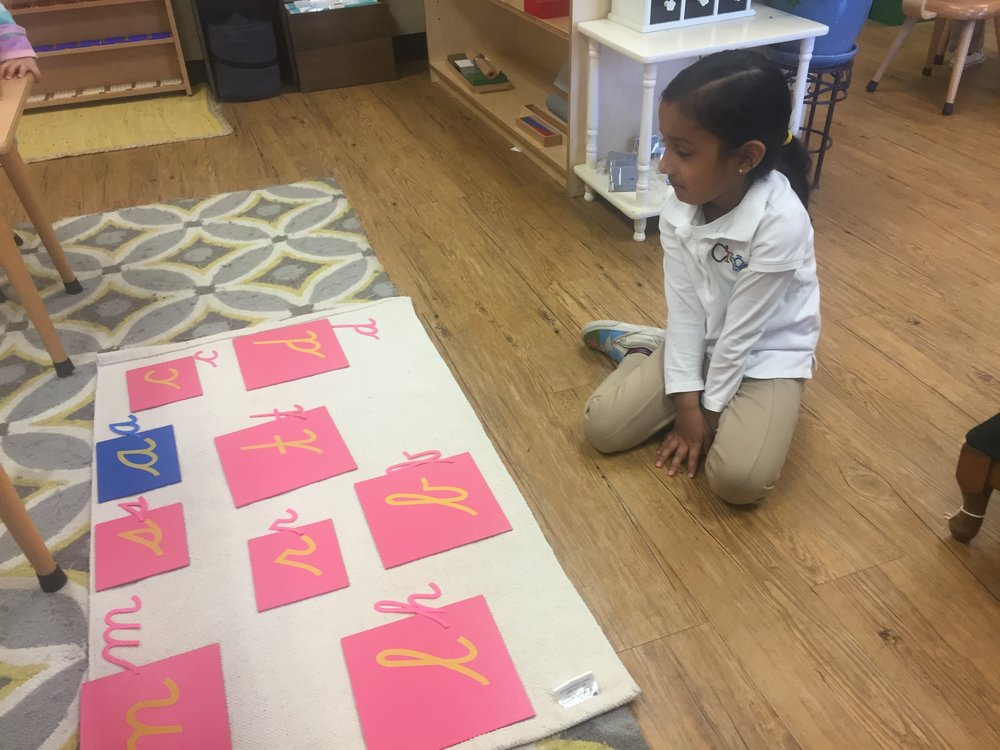 Sandpaper Letters and Moveable Alphabet