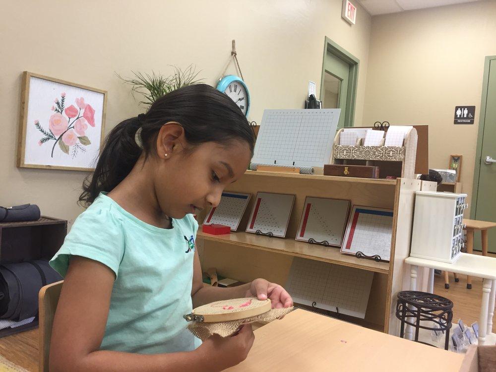 Sewing a burlap