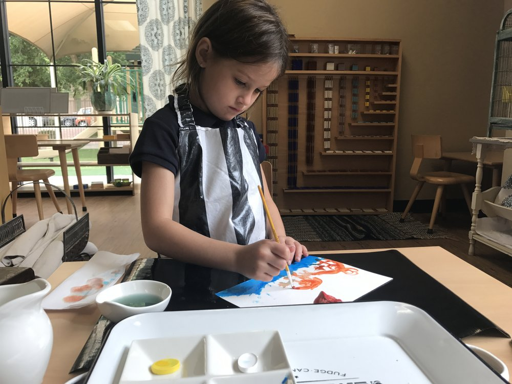 Watercoloring with Primary Colors
