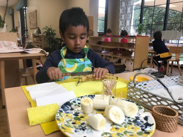Slicing a Banana