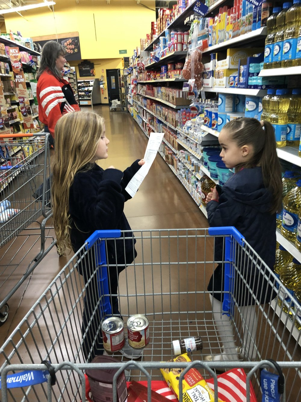 Going out: shopping with a list