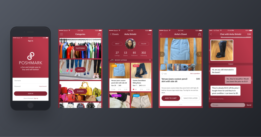 Poshmark Concept - 02 All Screens.png