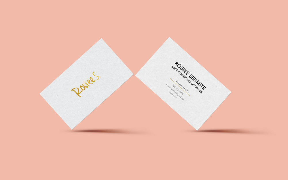 Business cards for self
