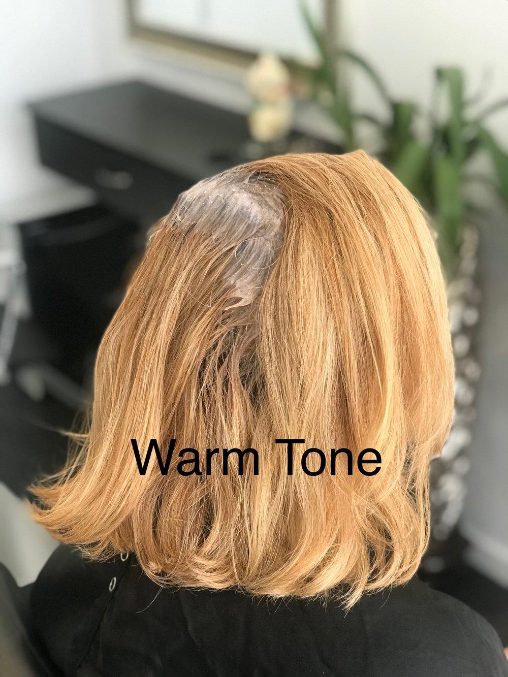 Warm tone hair 1