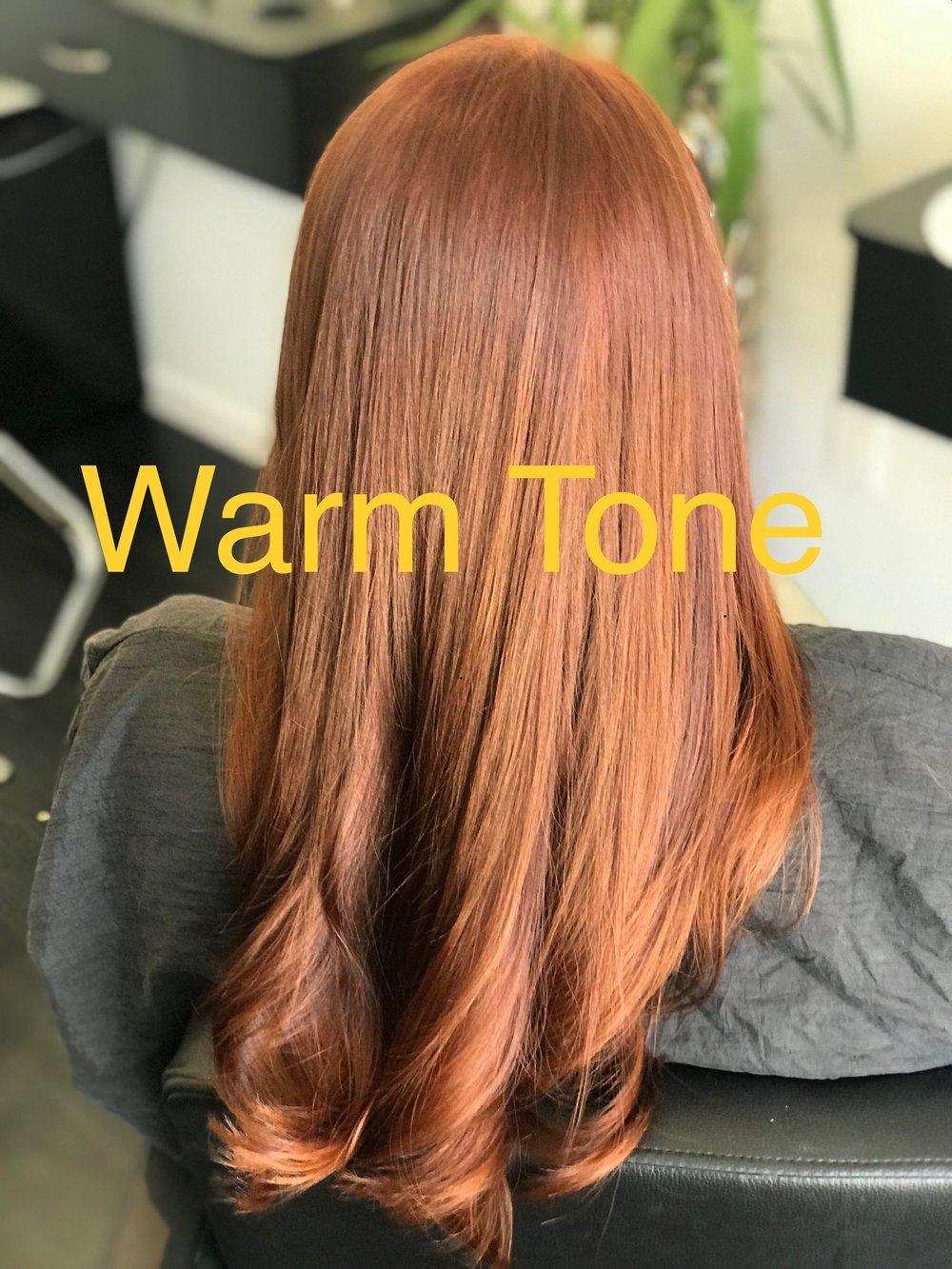 Warm tone hair 2