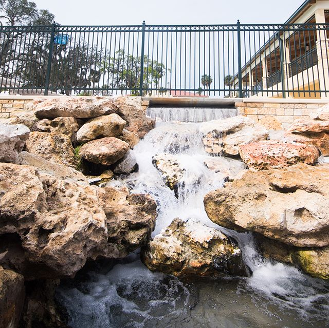 A few shots from another recently completed park we designed. The historically significant Spring Park in nearby Green Cove Springs received a new multi-purpose building with second floor observation deck over the entire park and Castle Bay designed elements including an interactive water feature featuring the St. John's River and nearby landmarks, an updated spring head and waterfall outflow using natural Florida limestone boulders, fully accessible sidewalks throughout the park, cedar shade structures, and many other custom hardscape elements throughout. From research and concept through construction this was a pleasure to be a part of. Next time you find yourself in Green Cove Springs, stop by and have a look, and a swim. #landscapearchitecture #park #design #florida #historicplaces #floridahistory
