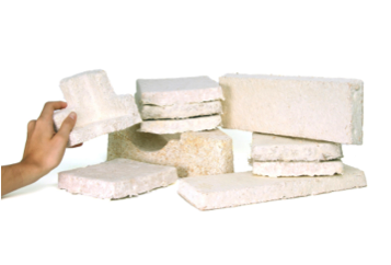 Inexpensive, sustainable insulation from dried fungal  mycelium : clean, safe blocks of mycelium are available for purchase online.