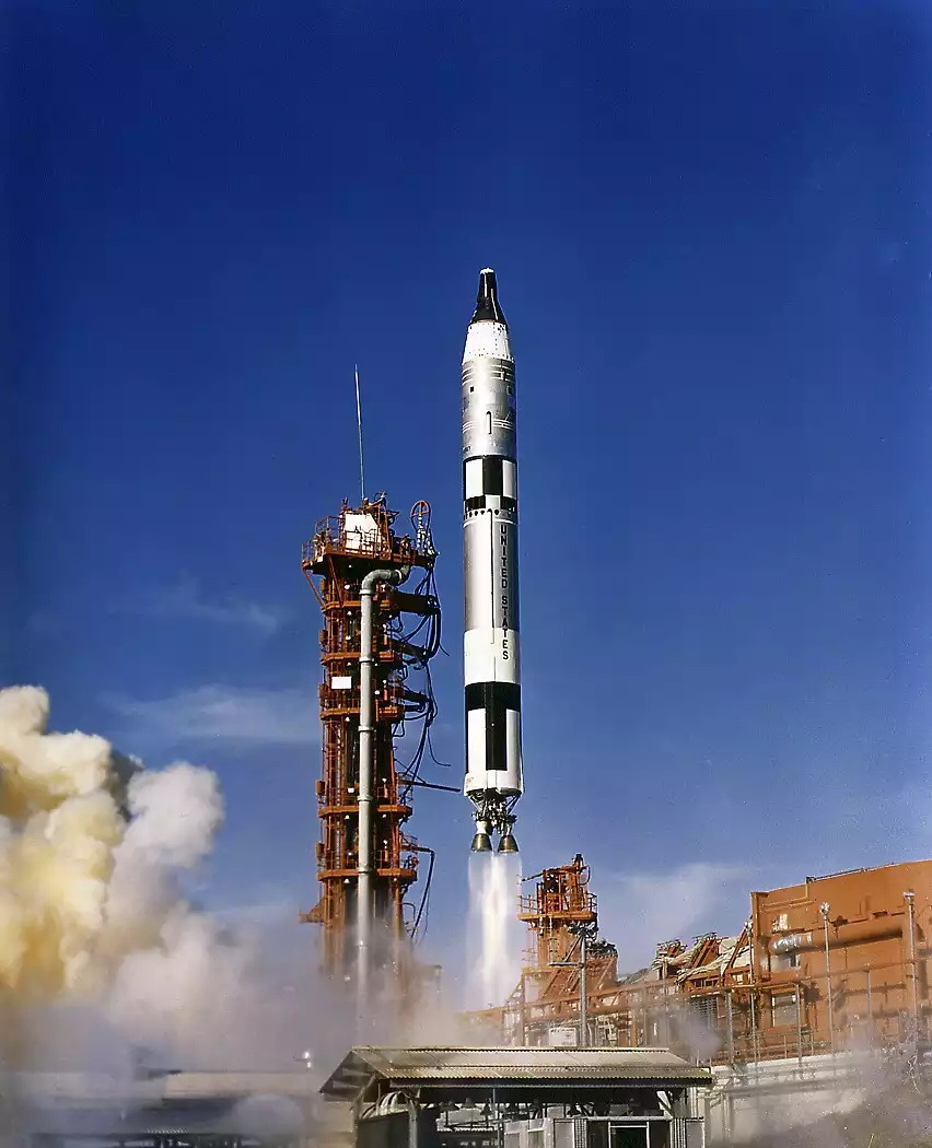The Titan II GLV blasting off from Cape Canaveral. Source: www.spacefacts.de