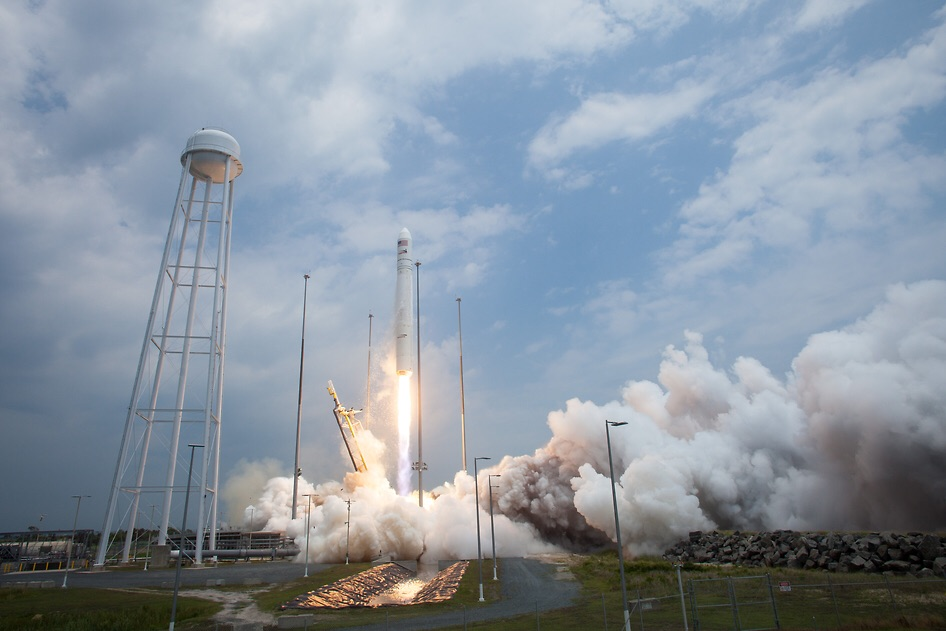 Launch of the Antares rocket from NASA Wallops in July 2013. Photo: NASA