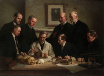 The Piltdown Man, one of the greatest scientific hoaxes of the 20th century, where the fossilized lower jawbone of an orangutan was fused with the cranium of a modern man and present as the missing link between apes and humans.