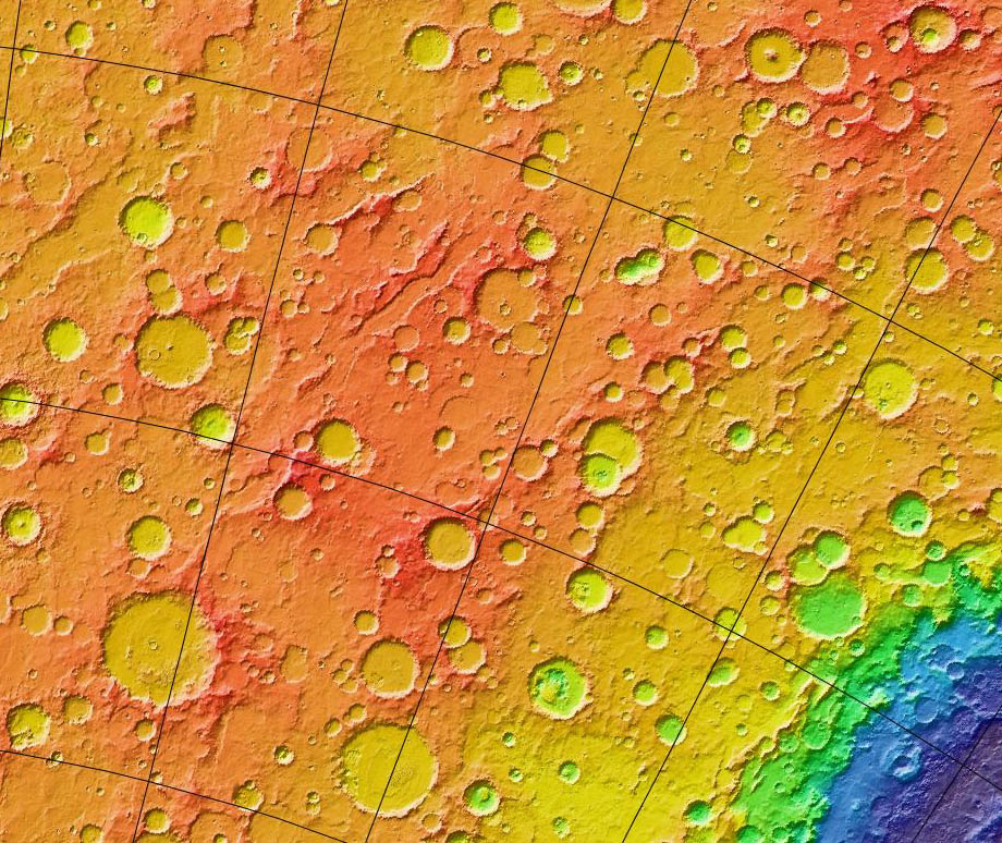 "Evidence of ""Heavy Bombardment"" on Mars Photo: Wikipedia"