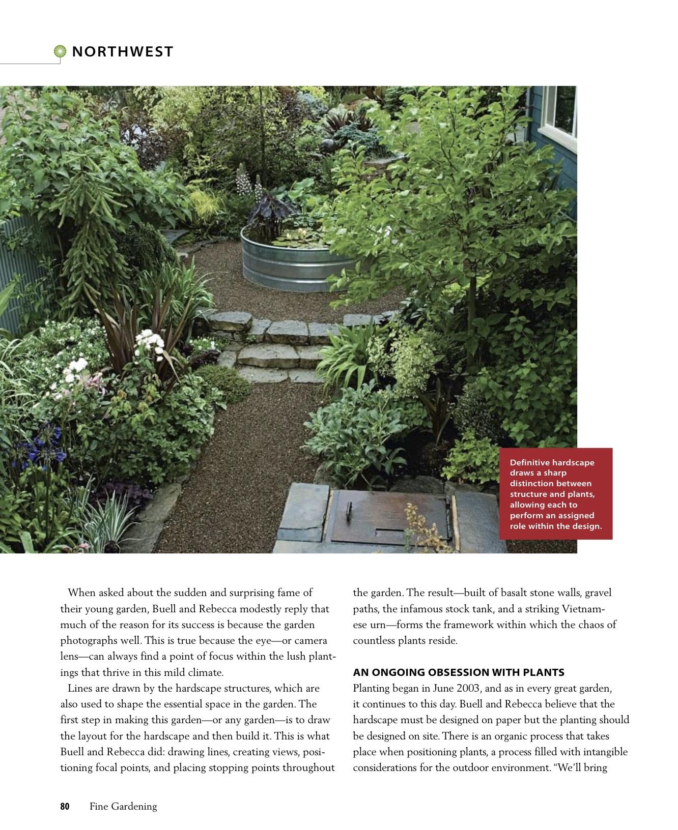 Fine Gardening Great Gardens Walk The Line 2007 Mosaic Gardens