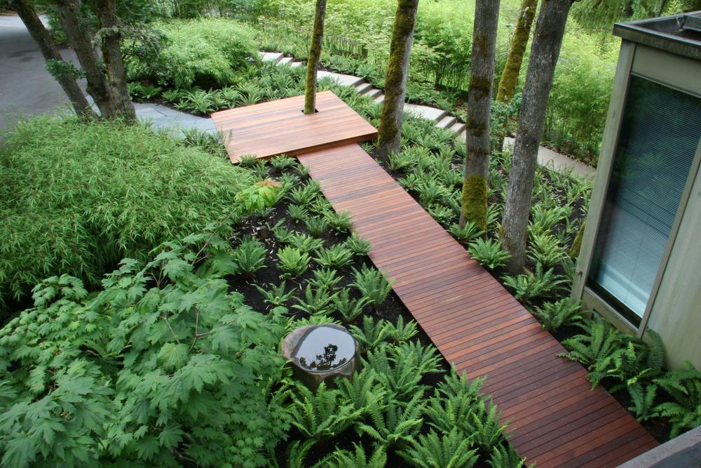 minimalist shade landscape ipe deck