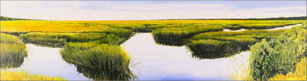"Marsh Morning by Molly Mabe 30"" x 128"""