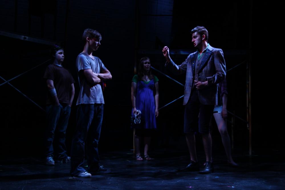 """In shape no bigger than an agate stone..."" Romeo & Juliet , The Un-Common Theatre Company, 2010.Photo by Elizabeth Shear ."