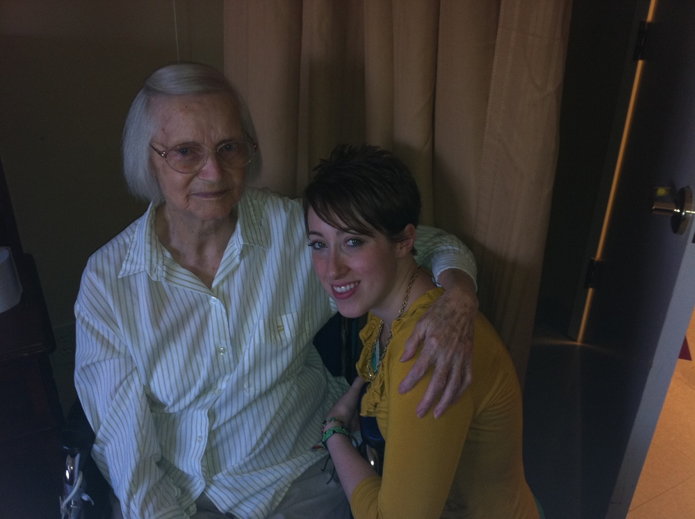 Me and Nona on our birthday, October 17th, 2010.