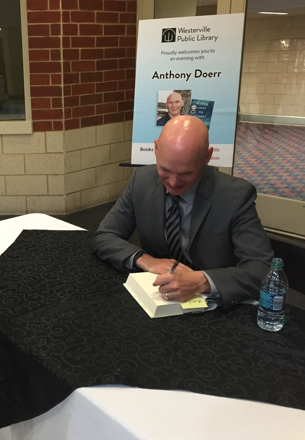 Anthony Doerr signing my copy of All the Light We Cannot See! Be still, my bookish heart.