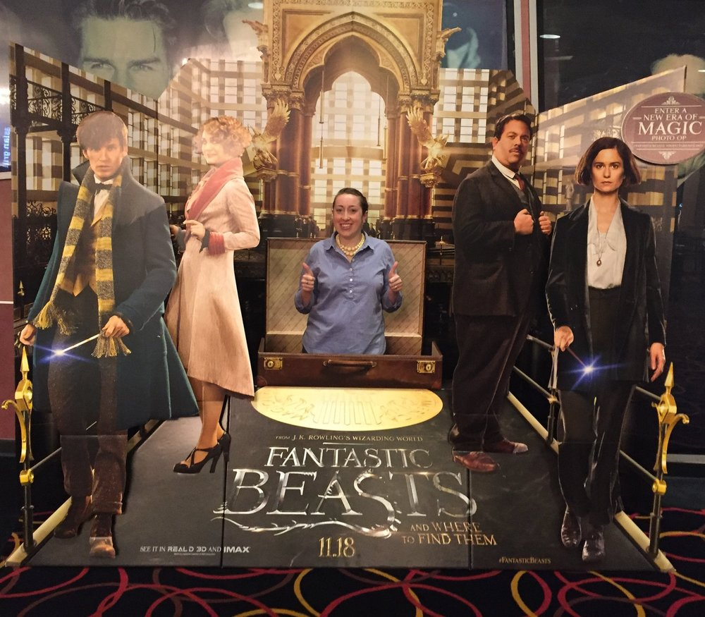 Getting excited about Fantastic Beasts last month while on my way to see another movie.