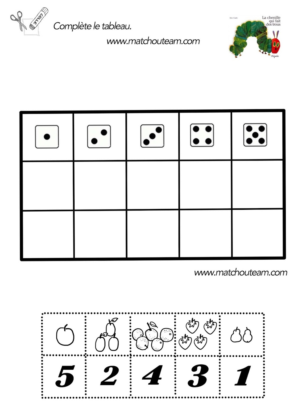 math worksheet : samples  l atelier french preschool nyc : French Math Worksheets