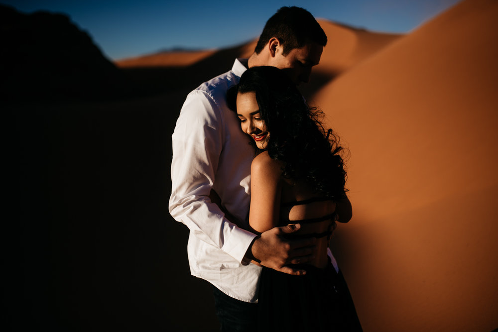 twyla jones photography | couples engagement session sand dunes utah sunset stars-18.jpg