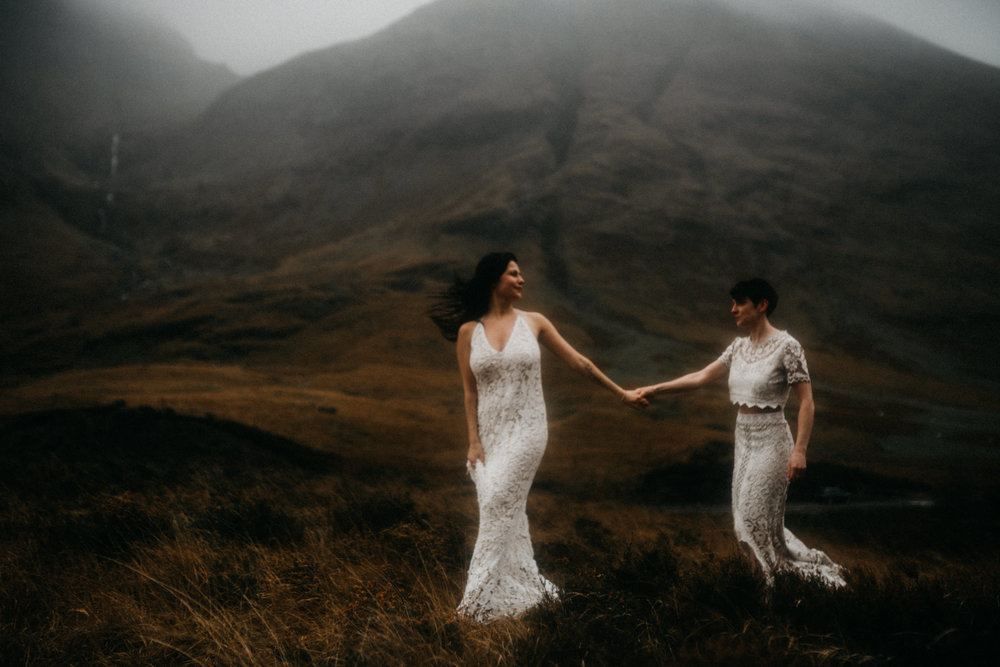 twyla jones photography - scotland glencoe moody same sex elopement brides -15.jpg