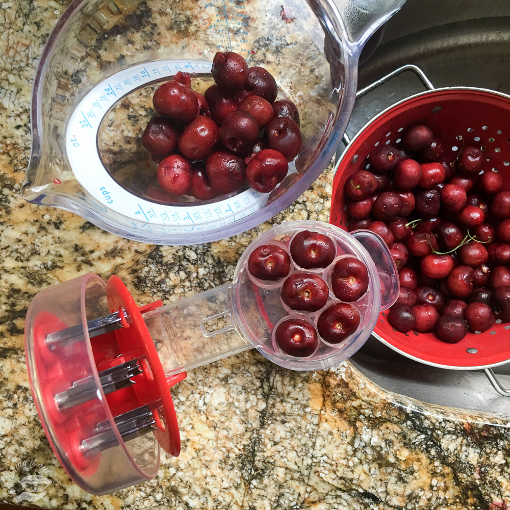 The awesome cherry pitter!