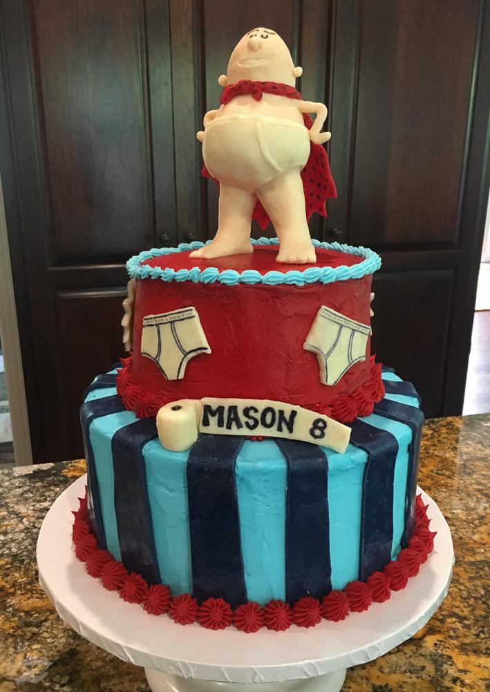 captain underpants cake — moody loon bakehouse