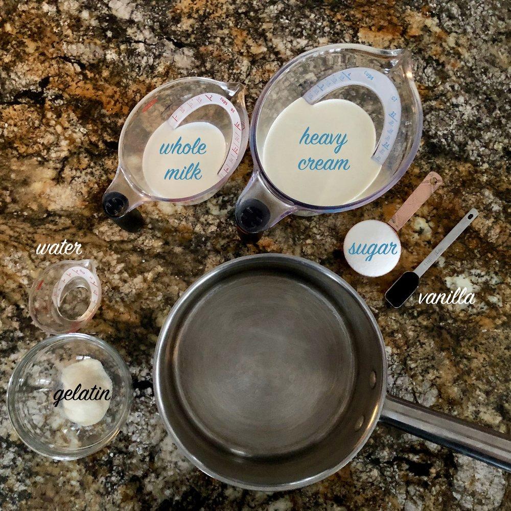 panna cotta ingredients
