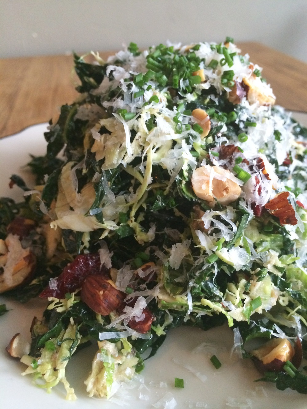 Shaved Brussel Sprout & Kale Salad