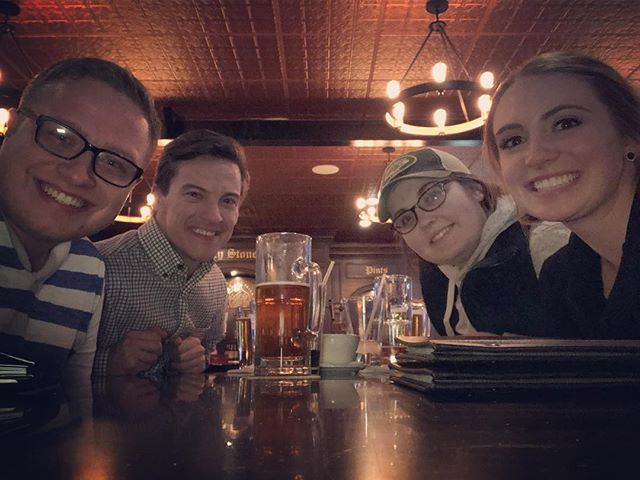Enjoying a night out with some of my favorite people