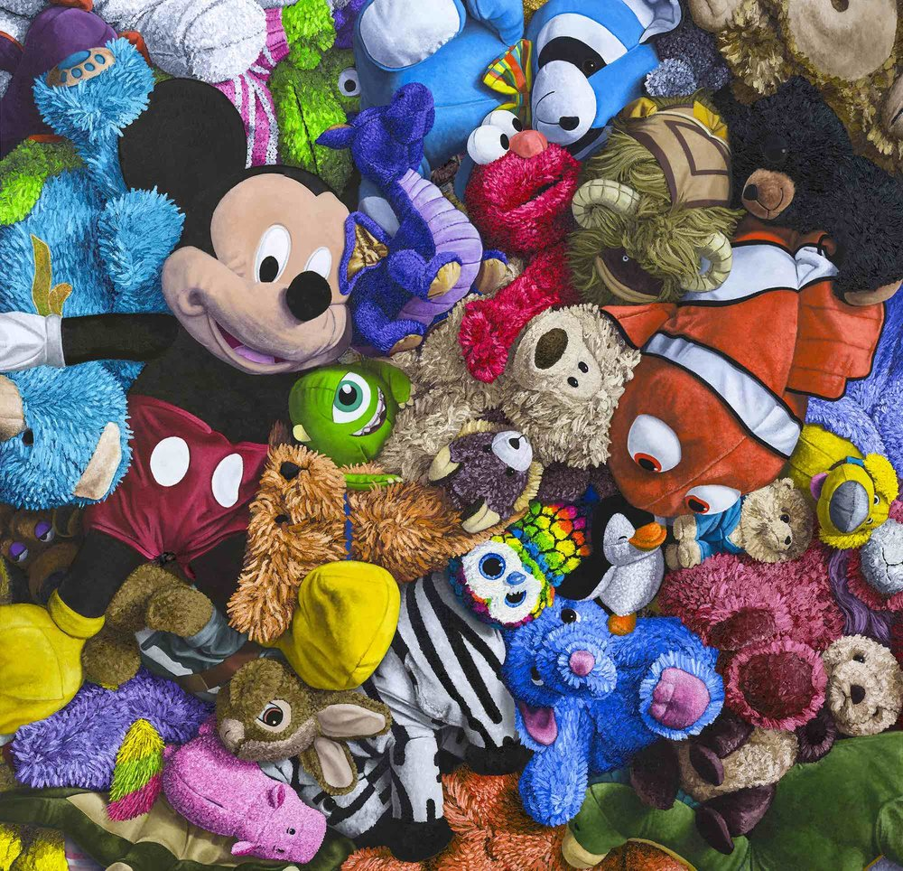 mickey-mouse-stuffed-animal-collage-painting-brent-estabrook.jpg