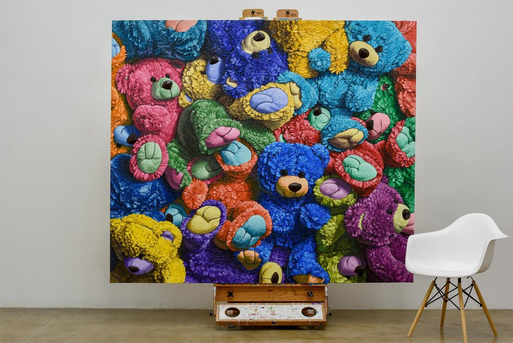 """Bear Mitzvah"" oil on canvas, 72"" x 84"" (183cm x 213cm) 2018 (sold)"