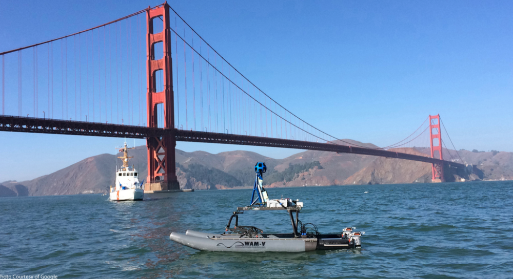 WAM-V USV mapping under Golden Gate Bridge