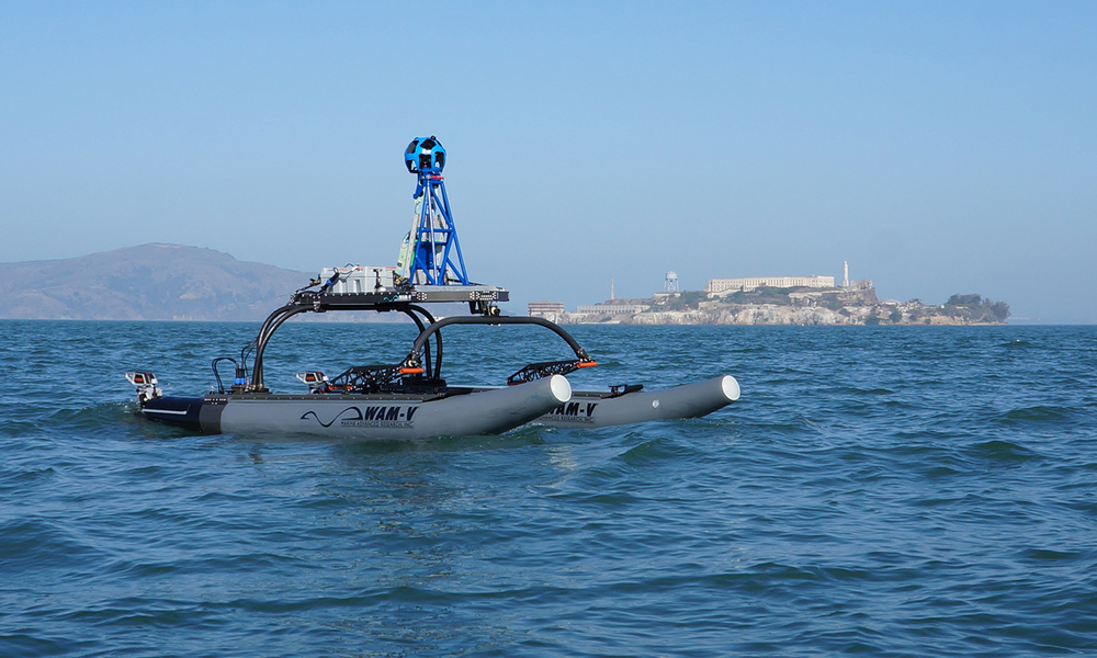 WAM-V USV mapping the San Francisco Bay with Google Trekker