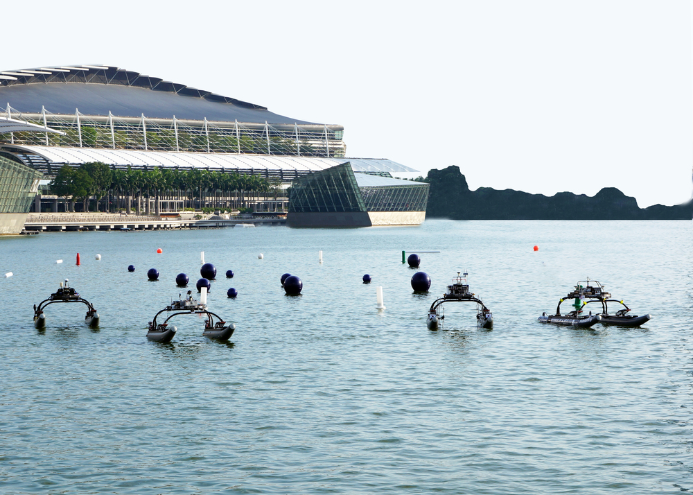WAM-V unmanned surface vessel swarm at Maritime RobotX Challenge