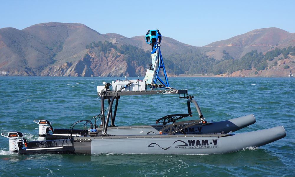WAM-V unmanned surface vessel equipped with the Google Trekker