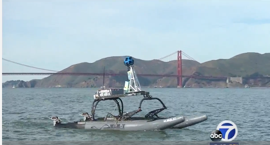 ABC 7 News covers Google and San Francisco Baykeeper as they utilize the WAM-V platform to map the San Francisco coastline