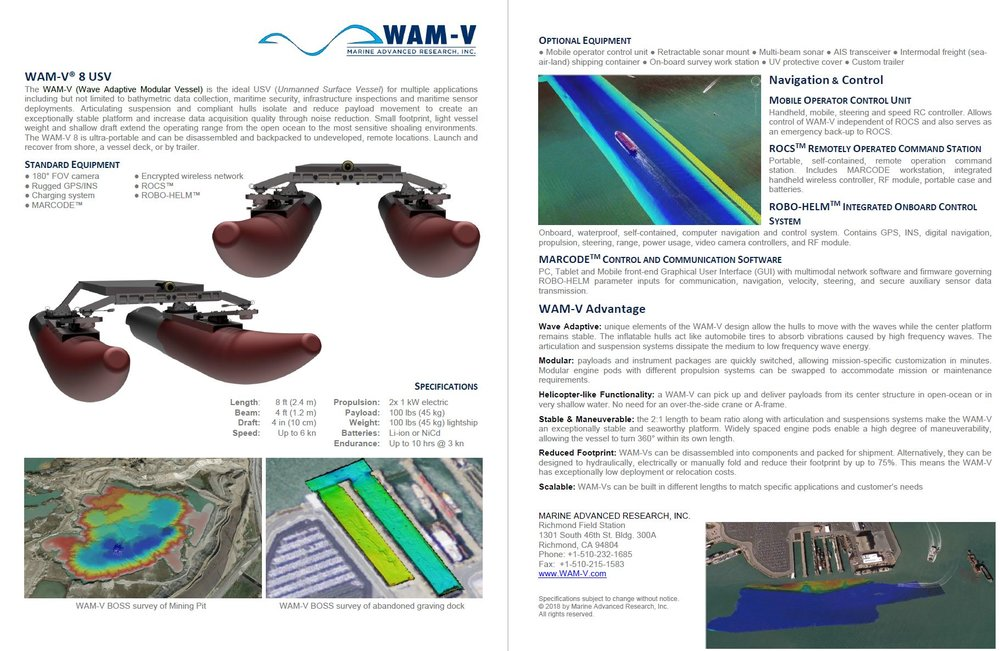 Click above image to download 8 ft WAM-V brochure