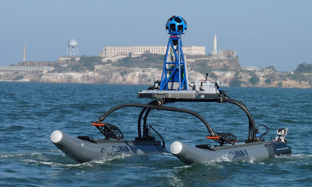 WAM-V 16 USV with Google Trekker