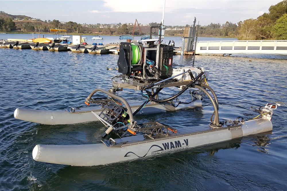 Multi-domain (Air, Sea and Subsea) WAM-V 16 ASV