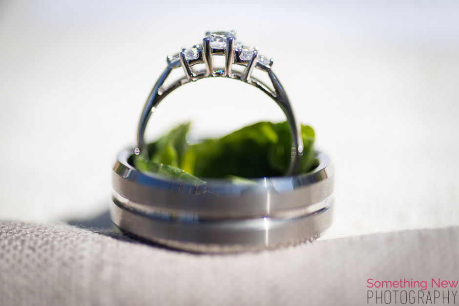 His & Hers White Gold Wedding Rings