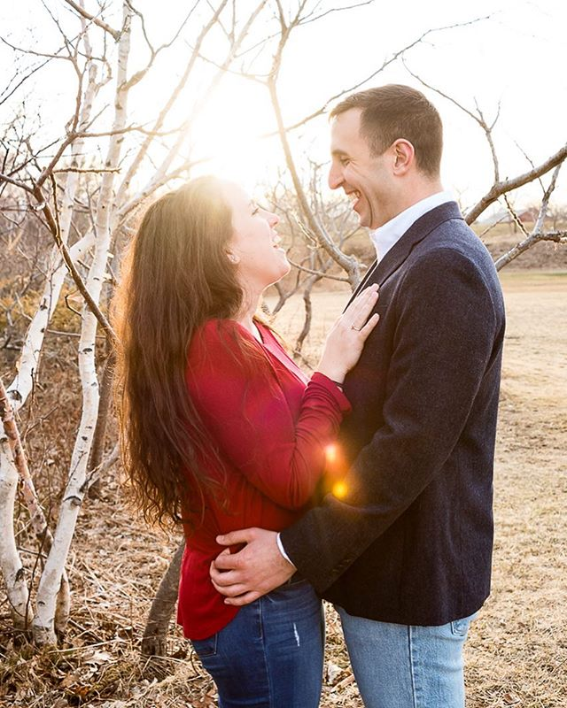 This weekend was so fun! ☺️ We lucked out for Jackie & Mark's Engagement session with #sunshine and blue skies.  Such a fun shoot, and I can't wait for their #wedding in the fall! 💕