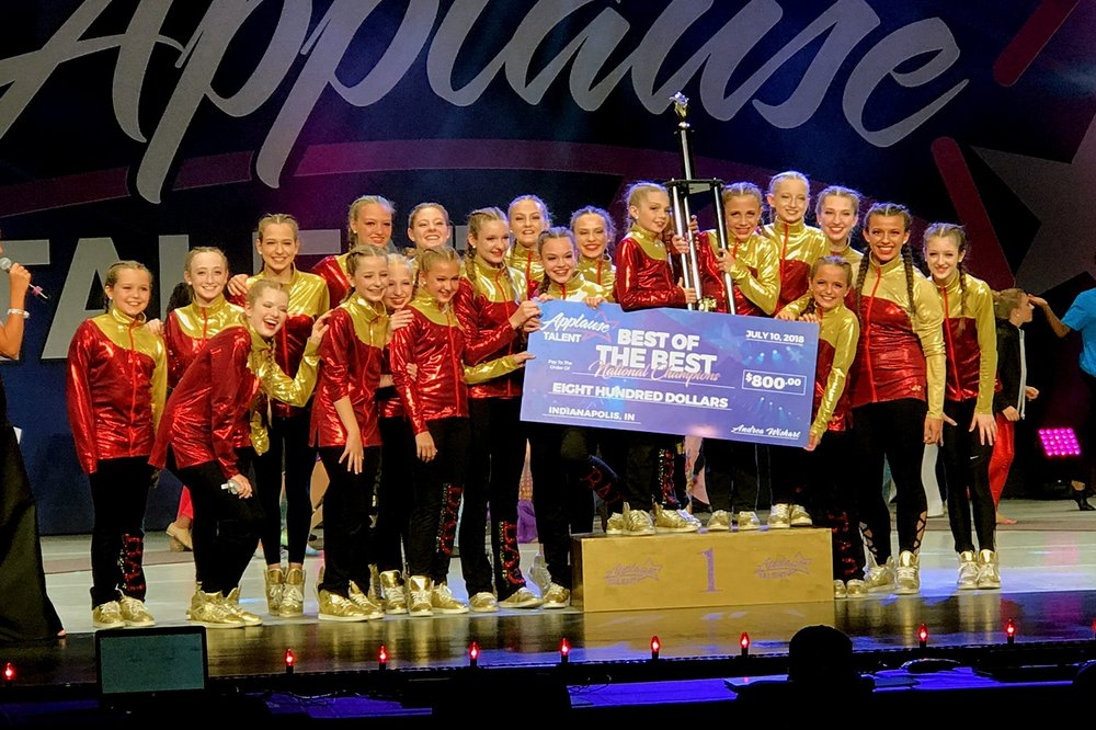 2018 Best of the Best National Champions!!! Applause Talent Nationals Indianapolis, Indiana