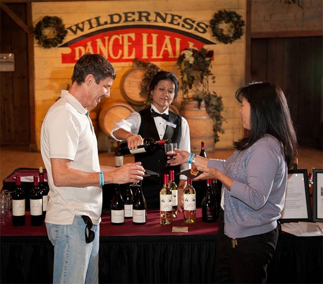 Knott's Wine and Craft beer garden inside Wilderness Dance Hall.