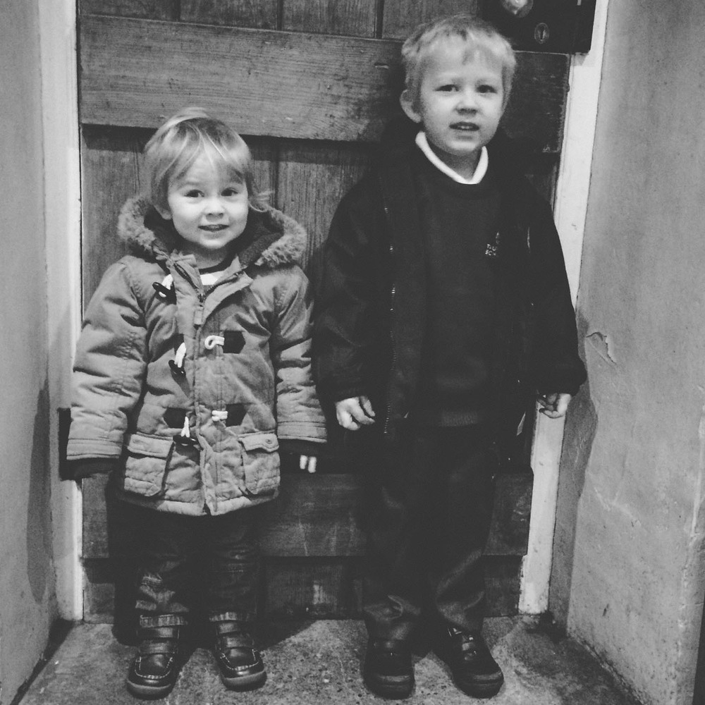 Tommy & Will all dressed and ready for a new year at a new Nursery and Pre-school
