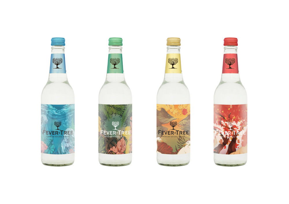 illustrations for Fever-Tree Label  2016 YCN Student Awarded Commendation